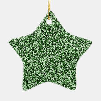 Scintillement de Faux de vert vert Ornement Étoile En Céramique