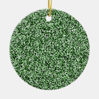 Scintillement de Faux de vert vert Ornement Rond En Céramique