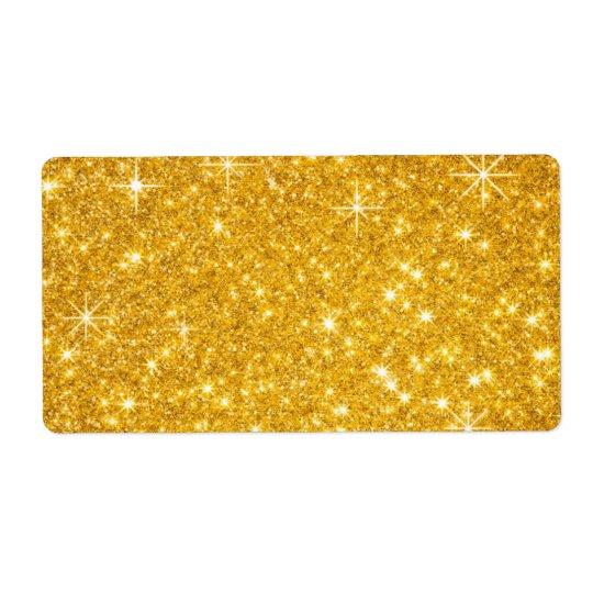 scintillement de fête d'or étiquettes d'expédition