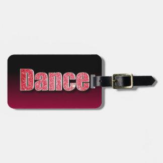 Scintillement de rose de danse étiquette pour bagages
