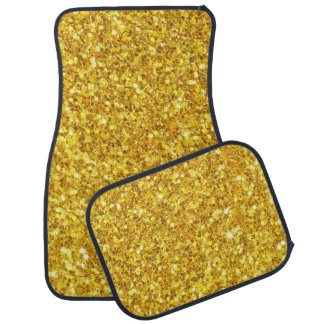 Scintillement de scintillement d'or mussif tapis de voiture