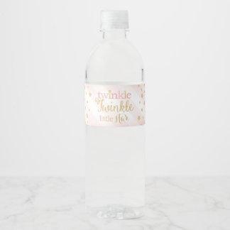 Scintillement de scintillement peu d'étiquettes de étiquette pour bouteilles d'eau