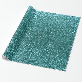 Scintillement de turquoise papier cadeau