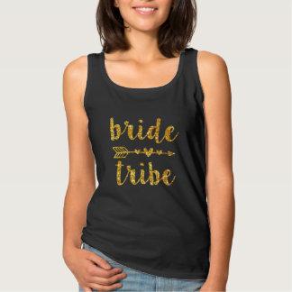 Scintillement d'or de la chemise des femmes de débardeur