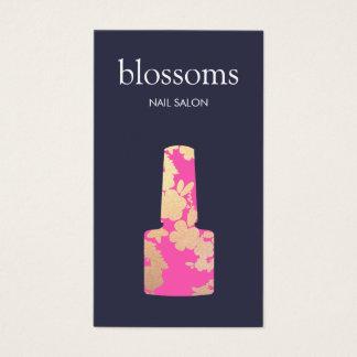 Scintillement d'or de salon de clou floral cartes de visite