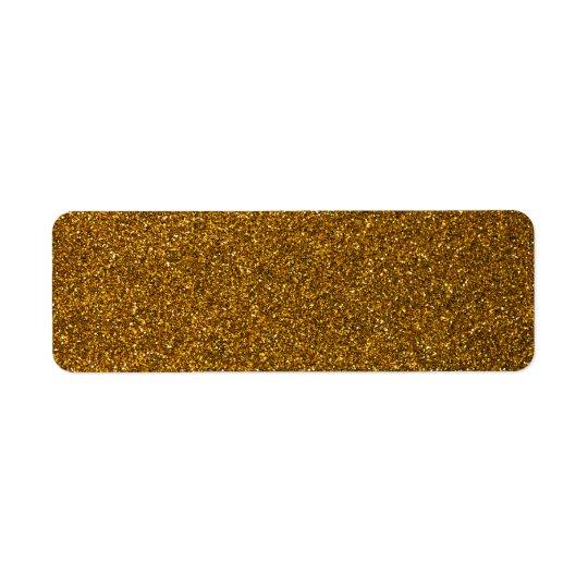 Scintillement d'or étiquettes d'adresse retour