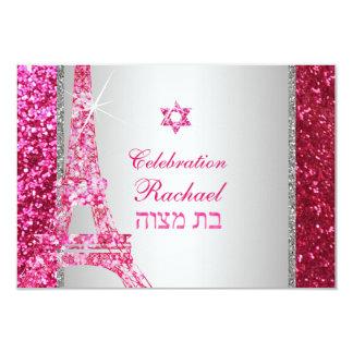 Scintillement Eiffel de faux de Carton D'invitation 8,89 Cm X 12,70 Cm