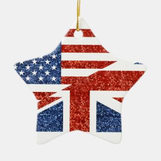 scintillement Etats-Unis britannique Ornement Étoile En Céramique