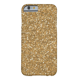 Scintillement fascinant de Faux d'or Coque iPhone 6 Barely There