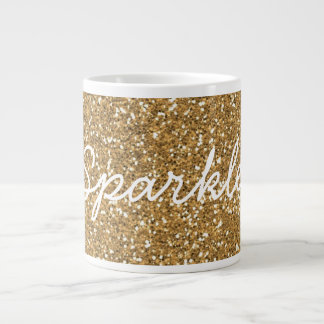 Scintillement fascinant de Faux d'or Mug