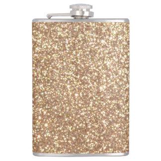Scintillement métallique d'or rose d'en cuivre flasques