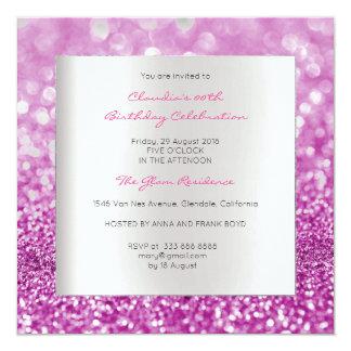 Scintillement minimal de rose de rose carton d'invitation  13,33 cm