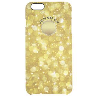 Scintillement moderne de Bokeh d'or Coque iPhone 6 Plus