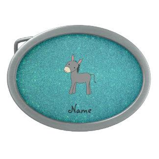 Scintillement nommé personnalisé de turquoise d'ân boucles de ceinture