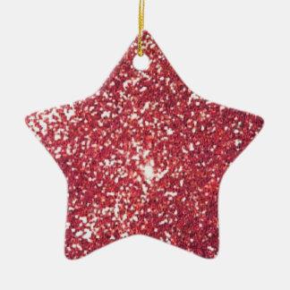 scintillement ornement étoile en céramique