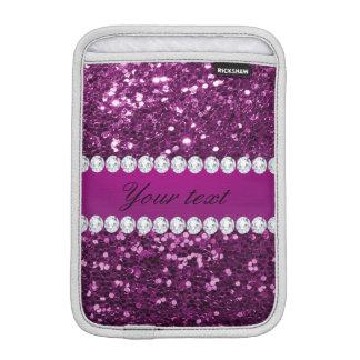 Scintillement pourpre et diamants de Faux Housse Pour iPad Mini