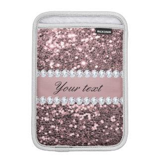 Scintillement rose à la mode et diamants de Faux Housse iPad Mini