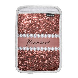 Scintillement rose et diamants de Faux d'or Housse iPad Mini