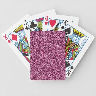 Scintillement rose magenta de Faux Jeux De Cartes