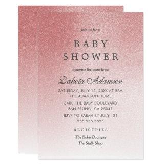 Scintillement rose rose de Faux d'or du baby Carton D'invitation 12,7 Cm X 17,78 Cm