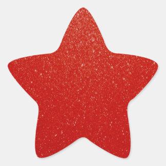 Scintillement rouge foncé doux sticker étoile