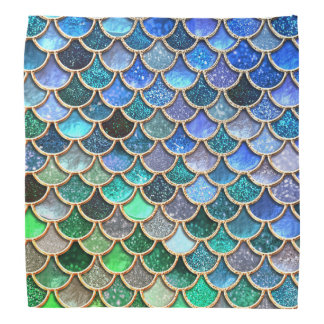 Scintillement vert de ressort de Mermaidscales Bandana