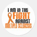 Sclérose en plaques de milliseconde DANS le COMBAT Sticker Rond