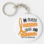 Sclérose en plaques je porte l'orange pour mon ami porte-clefs