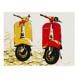 Scooter classique carte postale
