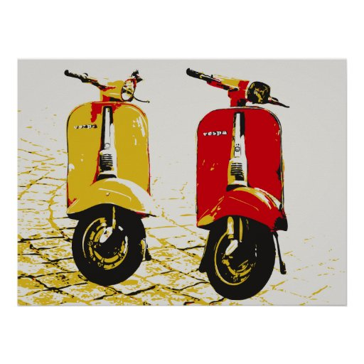 Scooter classique posters