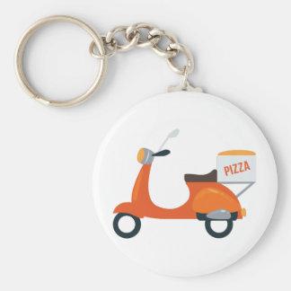 Scooter de pizza porte-clés