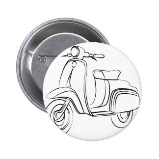 Scooter vintage badge rond 5 cm