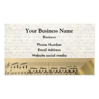 Score de musiciens de musique carte de visite standard