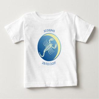 Scorpion de T-shirt de bébé de signe d'étoile