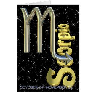 Scorpion - du 24 octobre au 22 novembre carte de vœux