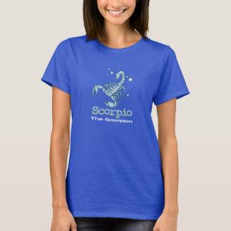 Scorpion le T-shirt de bleu d'astrologie de