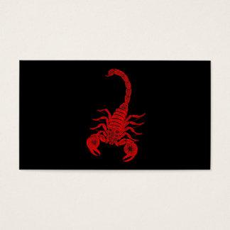 Scorpions vintages de rouge d'illustration de cartes de visite