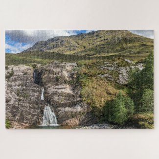 Scotland Jigsaw Puzzle – waterfall Glencoe