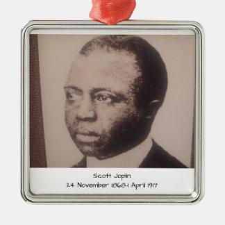 Scott Joplin Ornement Carré Argenté