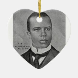 Scott Joplin Ornement Cœur En Céramique