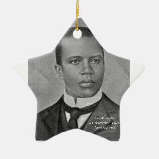 Scott Joplin Ornement Étoile En Céramique