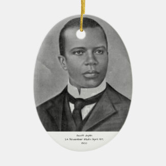 Scott Joplin Ornement Ovale En Céramique