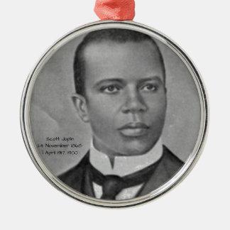 Scott Joplin Ornement Rond Argenté