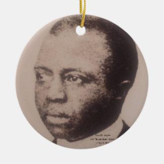 Scott Joplin Ornement Rond En Céramique