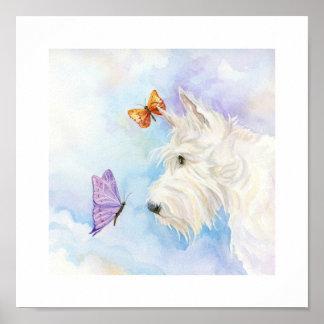 """Scottie et papillons, 10"""" x 10"""" copie posters"""