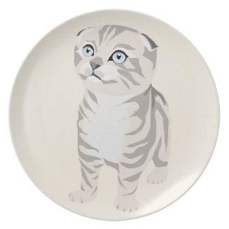 Scottish Fold Kitten Plate Dish Assiette