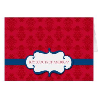 Scouts de garçon de carte de note de l'Amérique