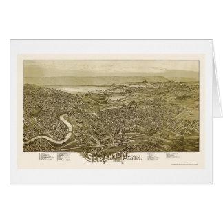 Scranton, carte panoramique de PA - 1890