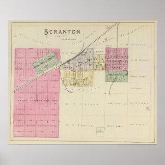 Scranton, le comté d'Osage, le Kansas Posters
