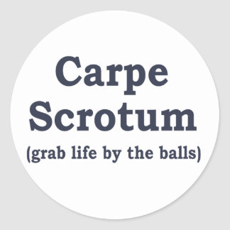Scrotum de Carpe Sticker Rond